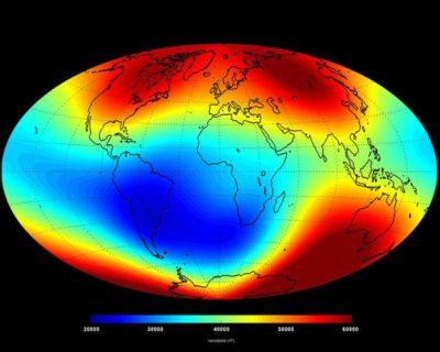 Föld mágneses indukció Swarm mérés